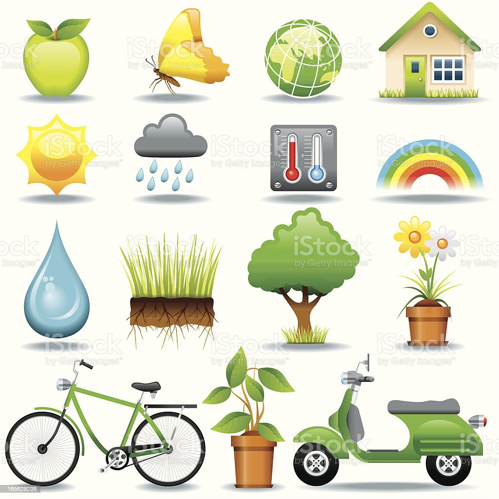 Icon Set, Environment royalty-free stock vector art