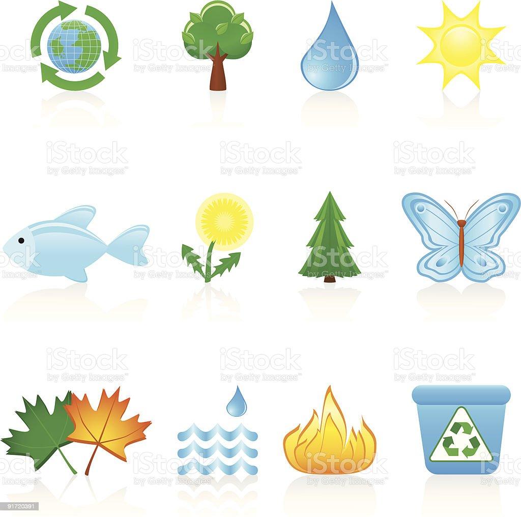 Icon set Environment royalty-free stock vector art