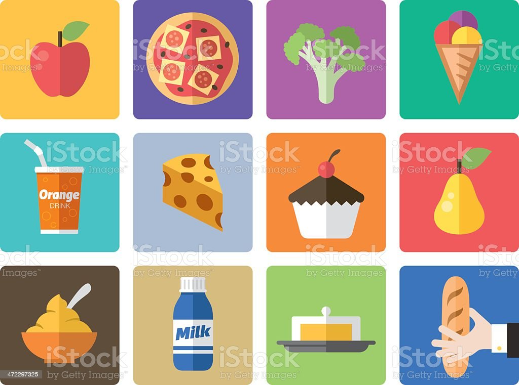 Icon Set, Food vector art illustration
