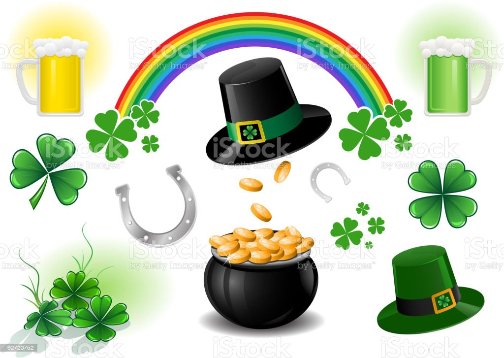 icon set for St. Patrick's Day royalty-free stock vector art