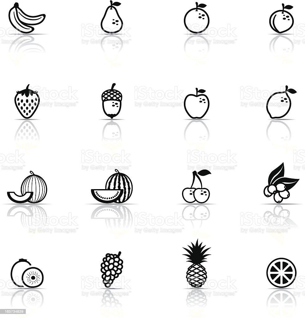 Icon Set, Fruits vector art illustration