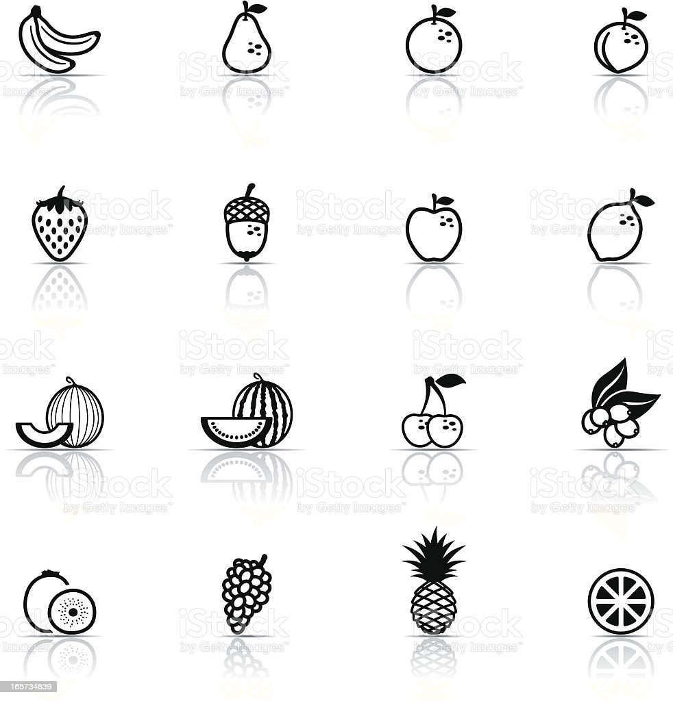Icon Set, Fruits vector art illustration