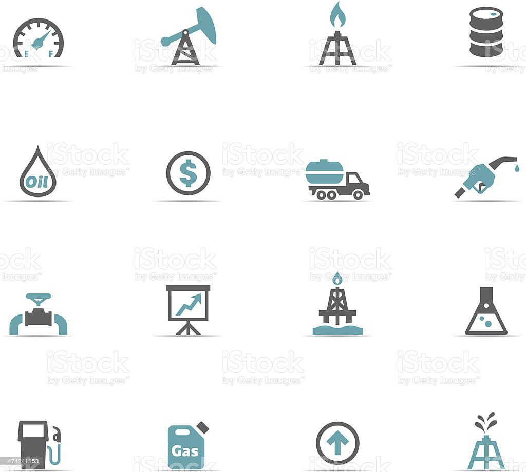 Icon Set, Fuel vector art illustration