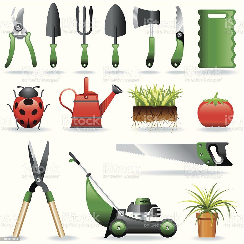 Icon Set, Gardening royalty-free stock vector art