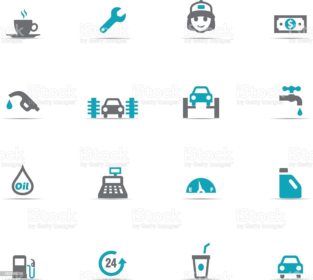 Icon Set, Gas Station royalty-free stock vector art