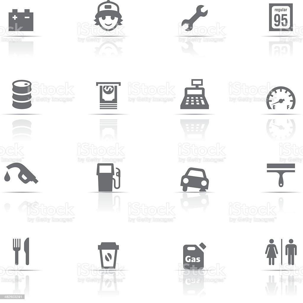 Icon Set, Gas Station vector art illustration