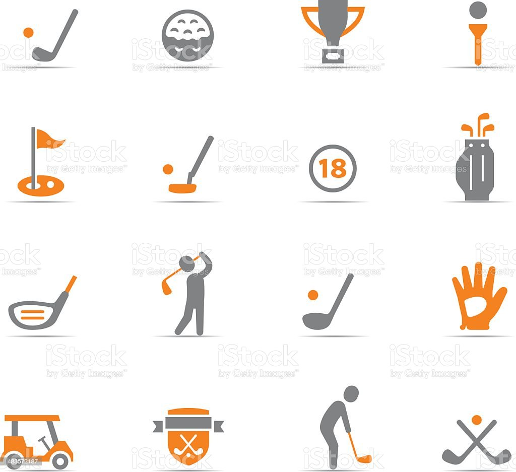 Icon Set, Golf vector art illustration