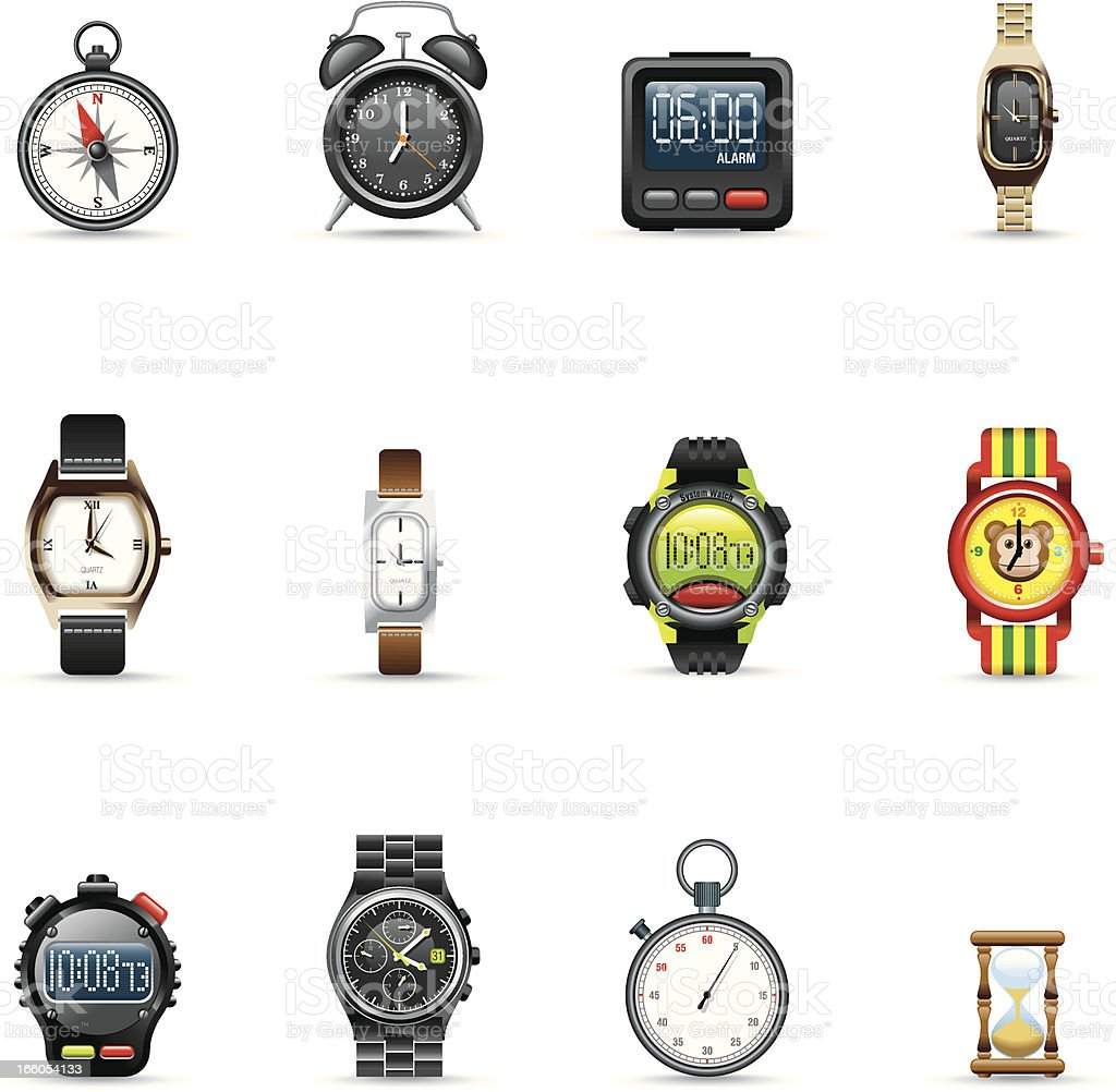 Icon Set, instrument of time royalty-free stock vector art