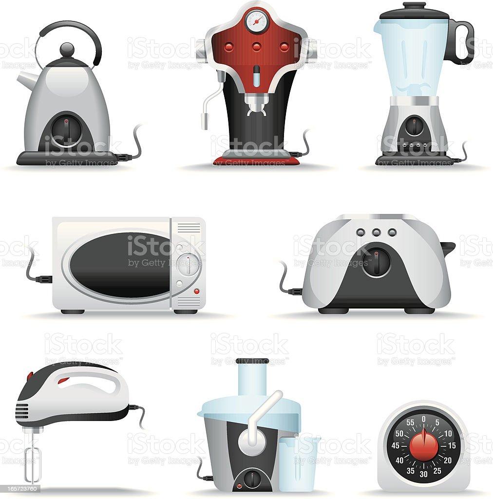 Icon Set, Kitchen Appliance vector art illustration