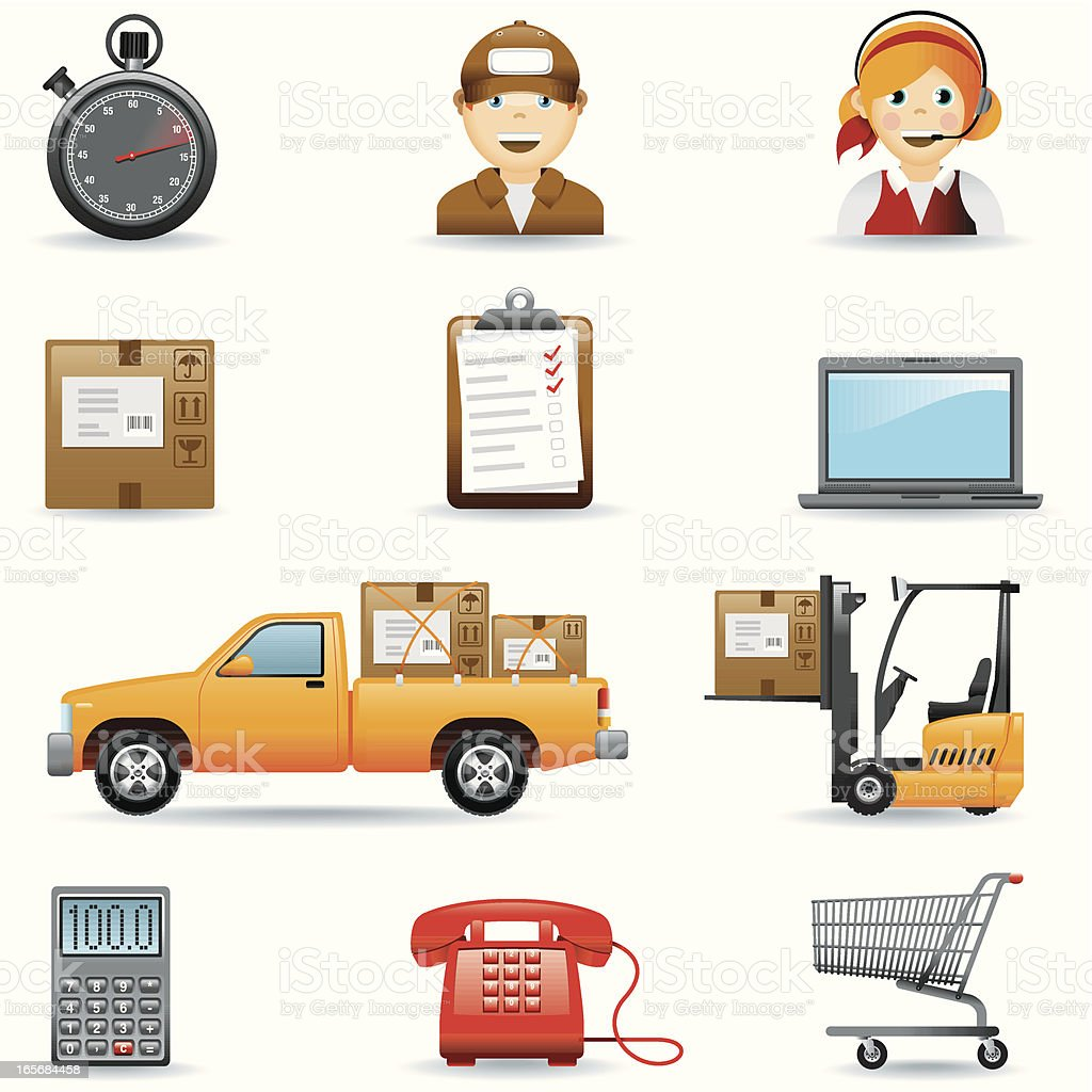 Icon set, Logistic royalty-free stock vector art
