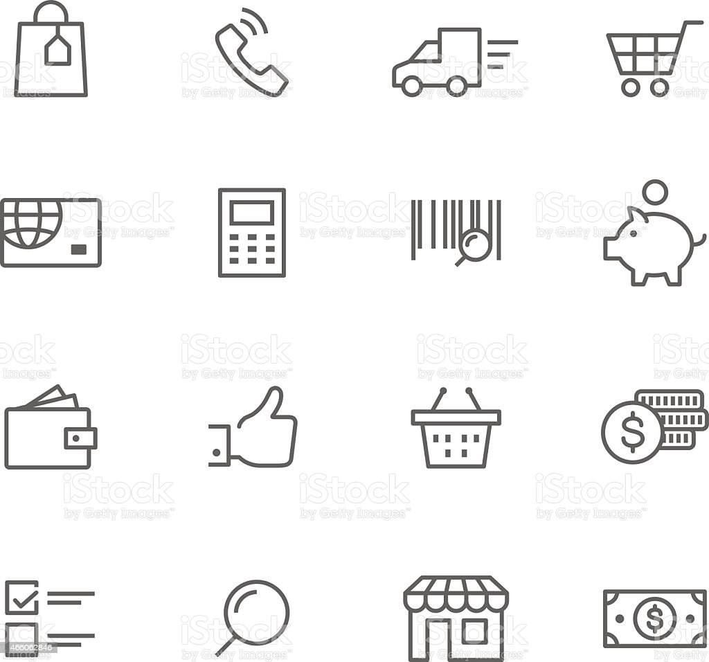 Icon Set, Logistic vector art illustration