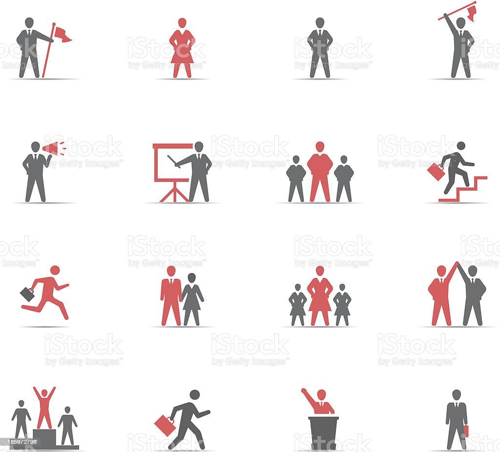 Icon Set, management vector art illustration