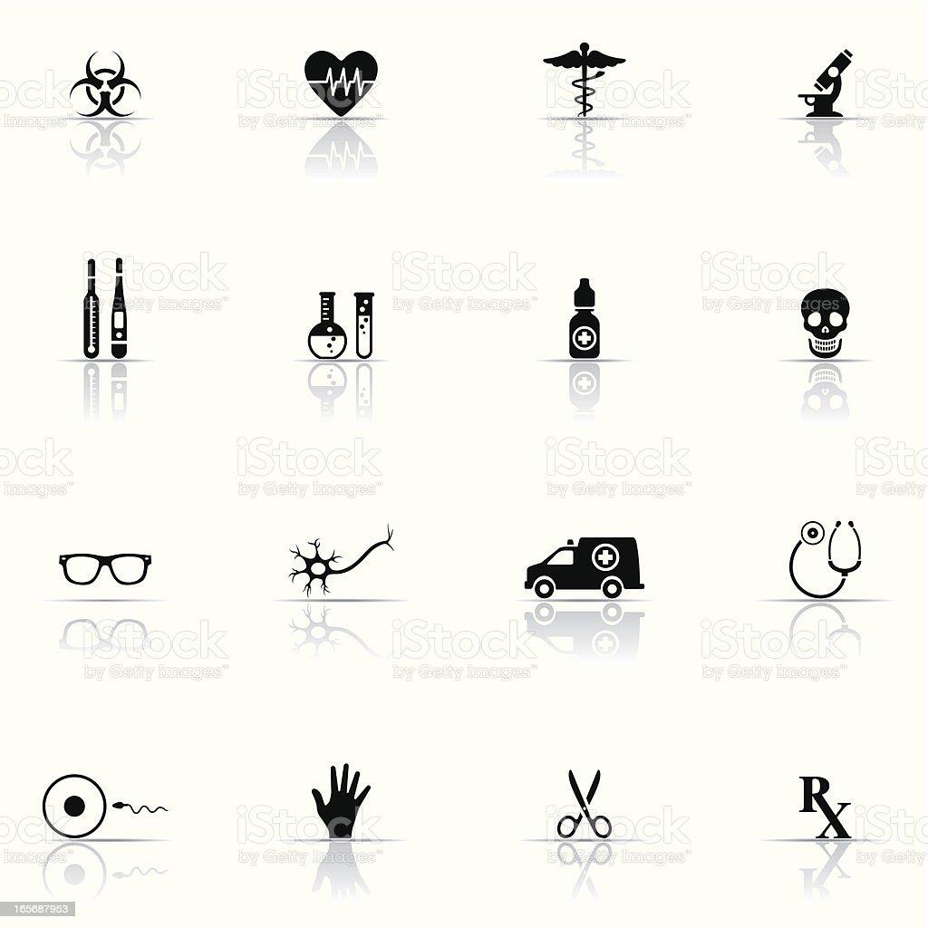 Icon set, Medicine and Science vector art illustration