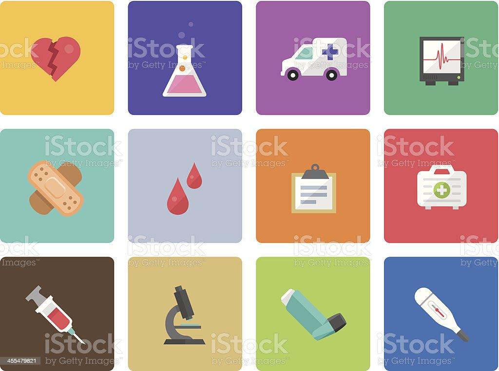 Icon Set, Medicine color royalty-free stock vector art