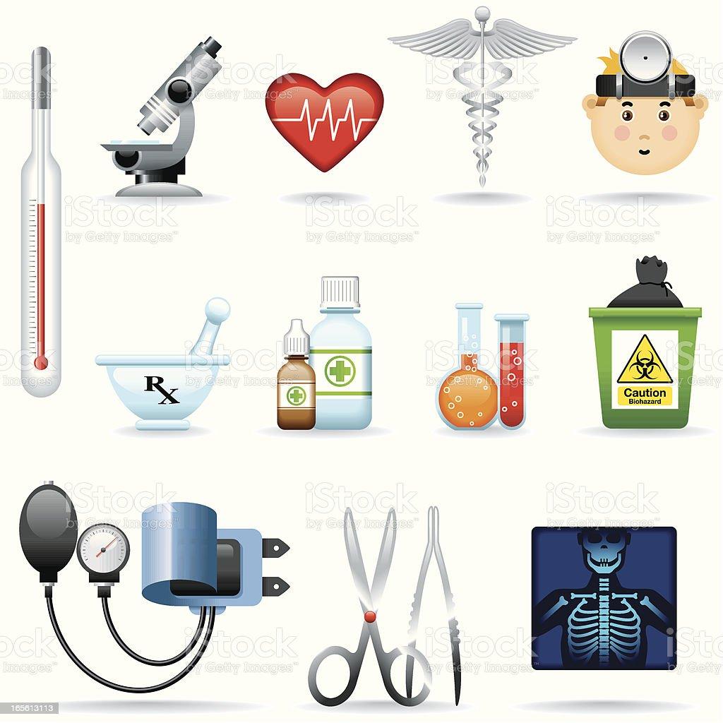 Icon Set, Medicine royalty-free stock vector art