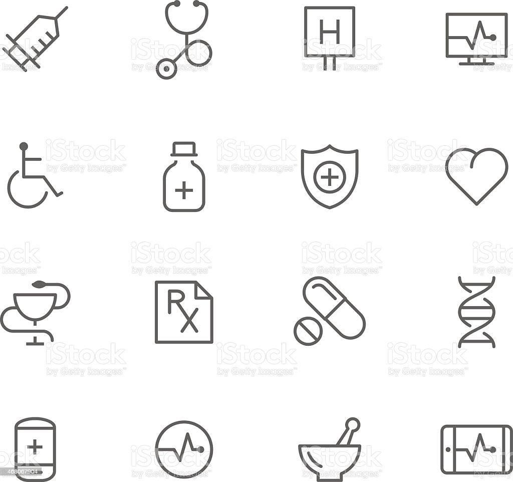 Icon Set, Medicine vector art illustration