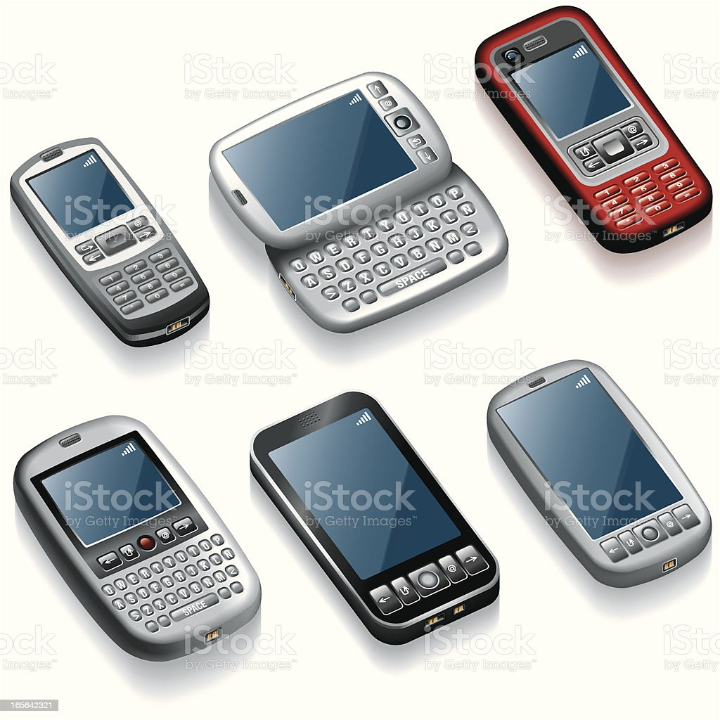Icon Set, mobile phones royalty-free stock vector art