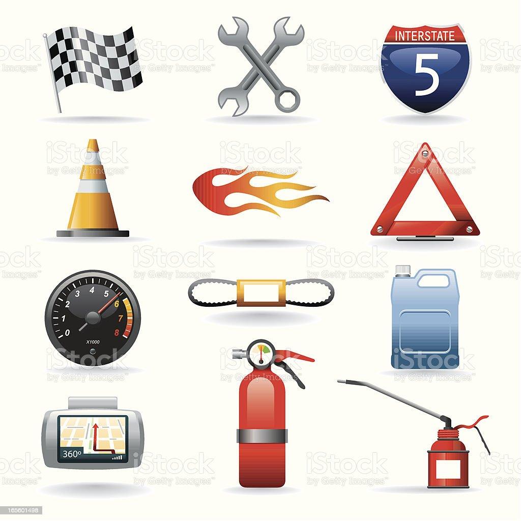Icon Set, Motor royalty-free stock vector art