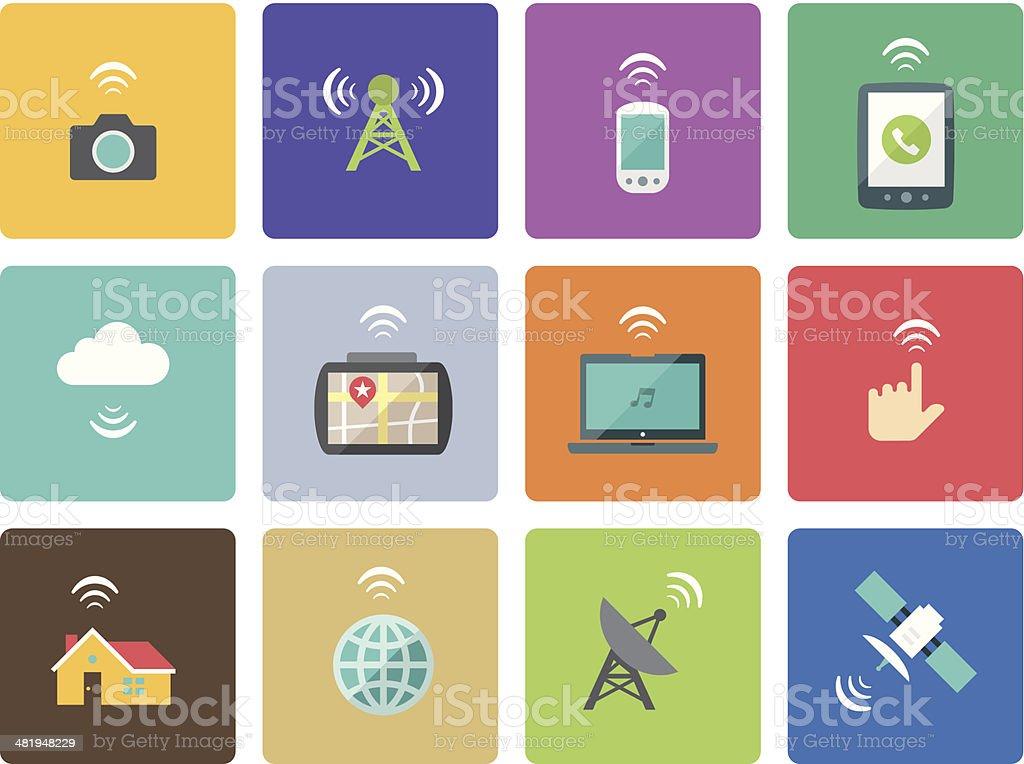 Icon Set, Network royalty-free stock vector art