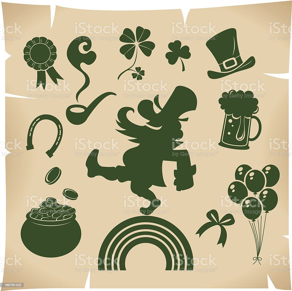 Icon set of St. Patrick's day royalty-free stock vector art