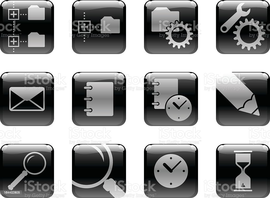 Icon set on the 'Computers' theme royalty-free stock vector art