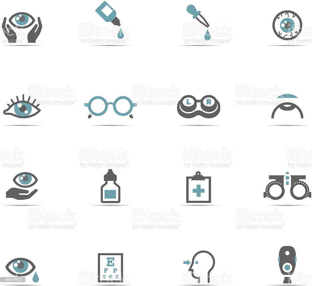Icon Set, Optometry vector art illustration
