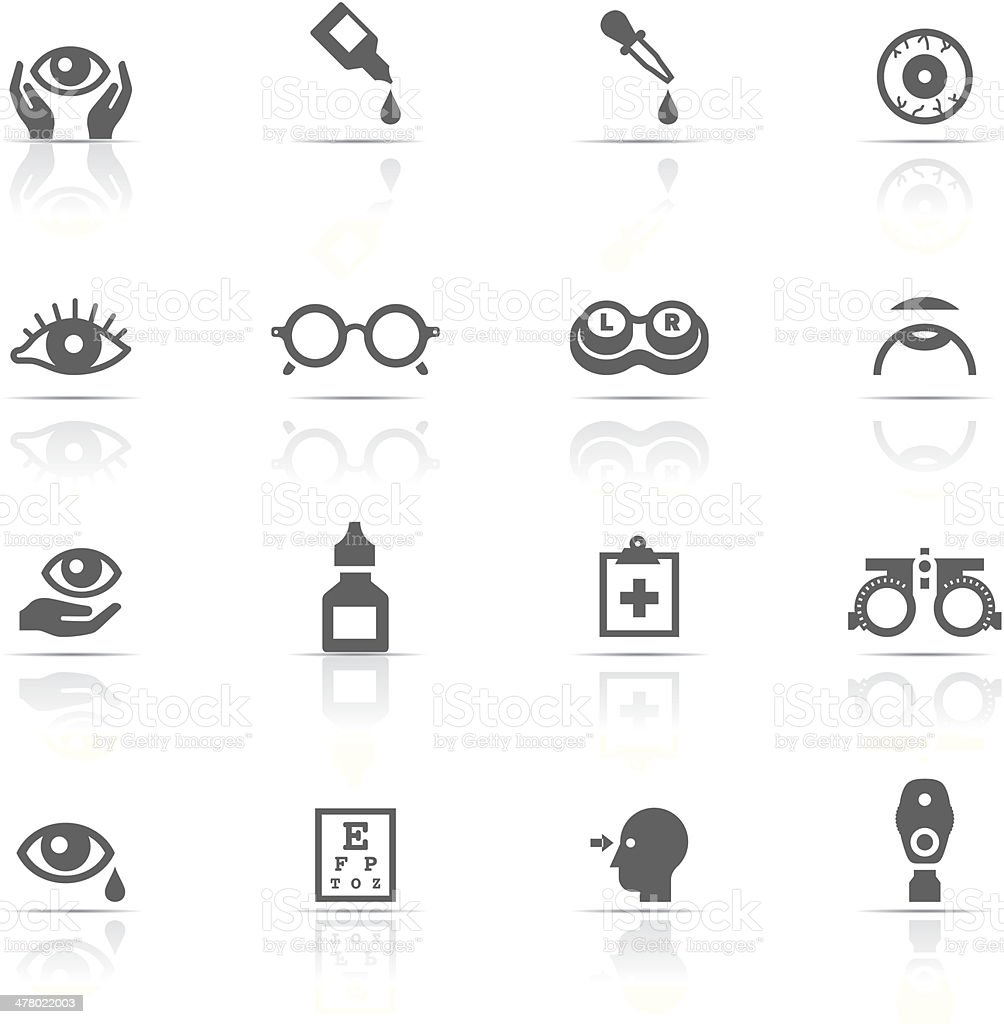 Icon Set, Optometry vector art illustration