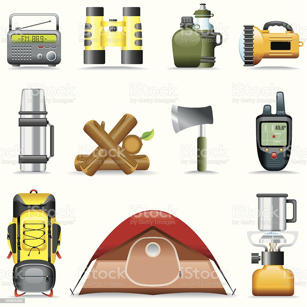 Icon Set, Outdoor and camping royalty-free stock vector art