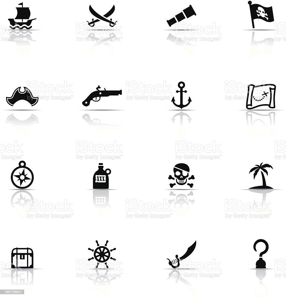 Icon Set, Pirate vector art illustration