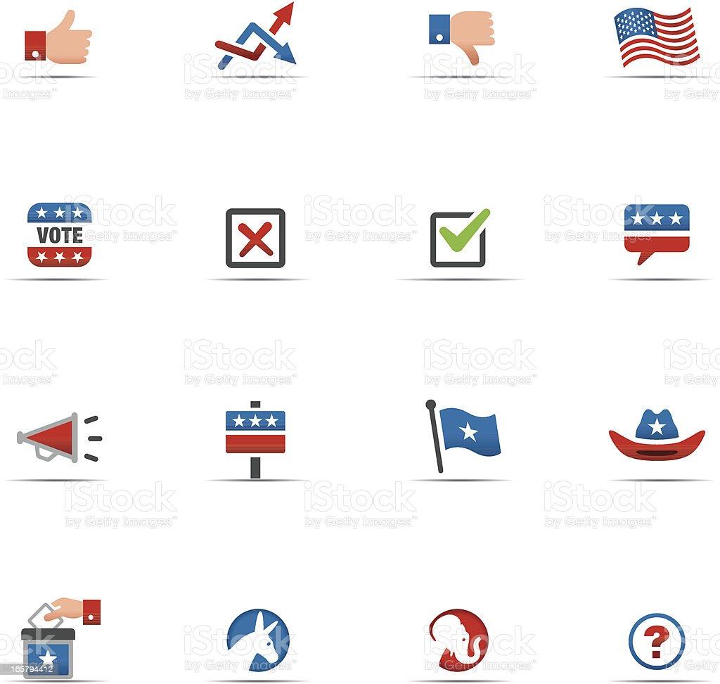 Icon Set, Politics Color royalty-free stock vector art