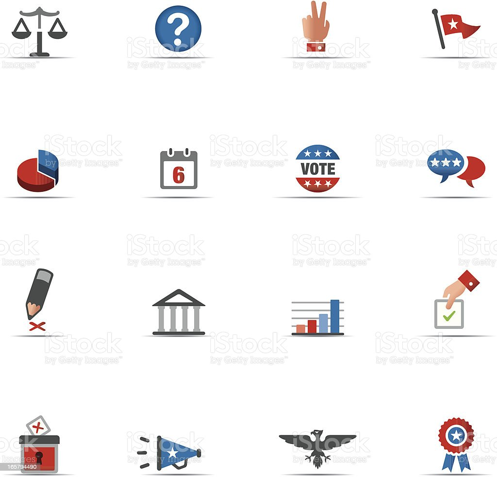 Icon Set, Politics Color royalty-free stock vector art