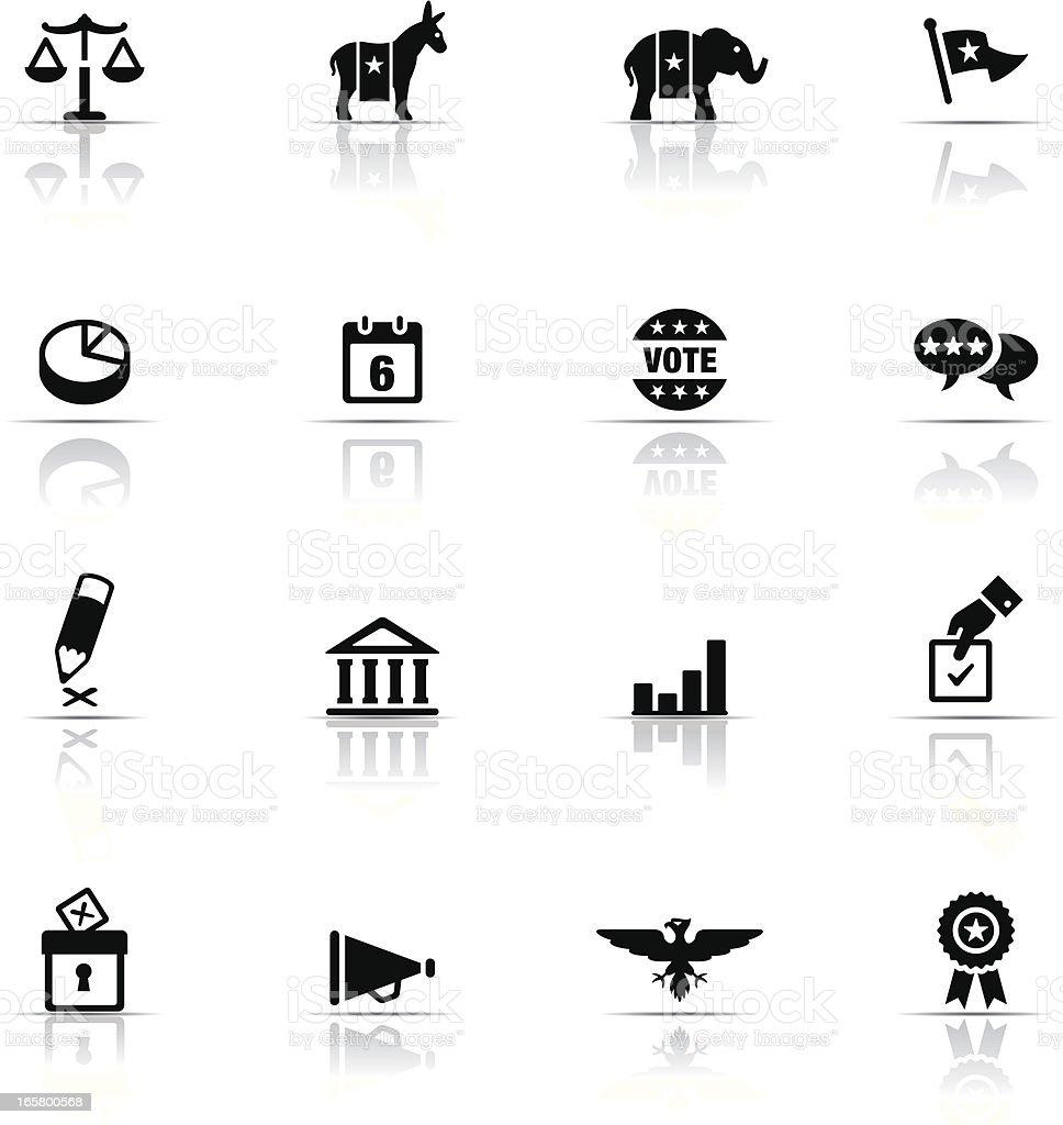 Icon Set, Politics royalty-free stock vector art
