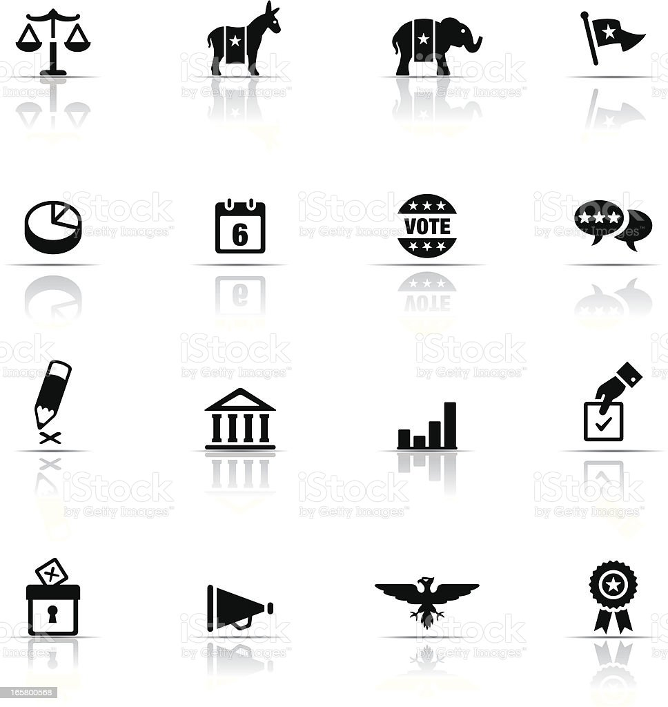 Icon Set, Politics vector art illustration