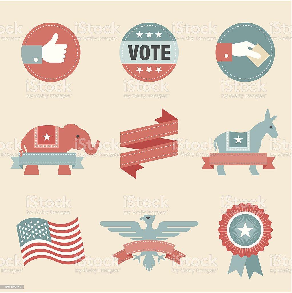 Icon Set, Politics vector art illustration