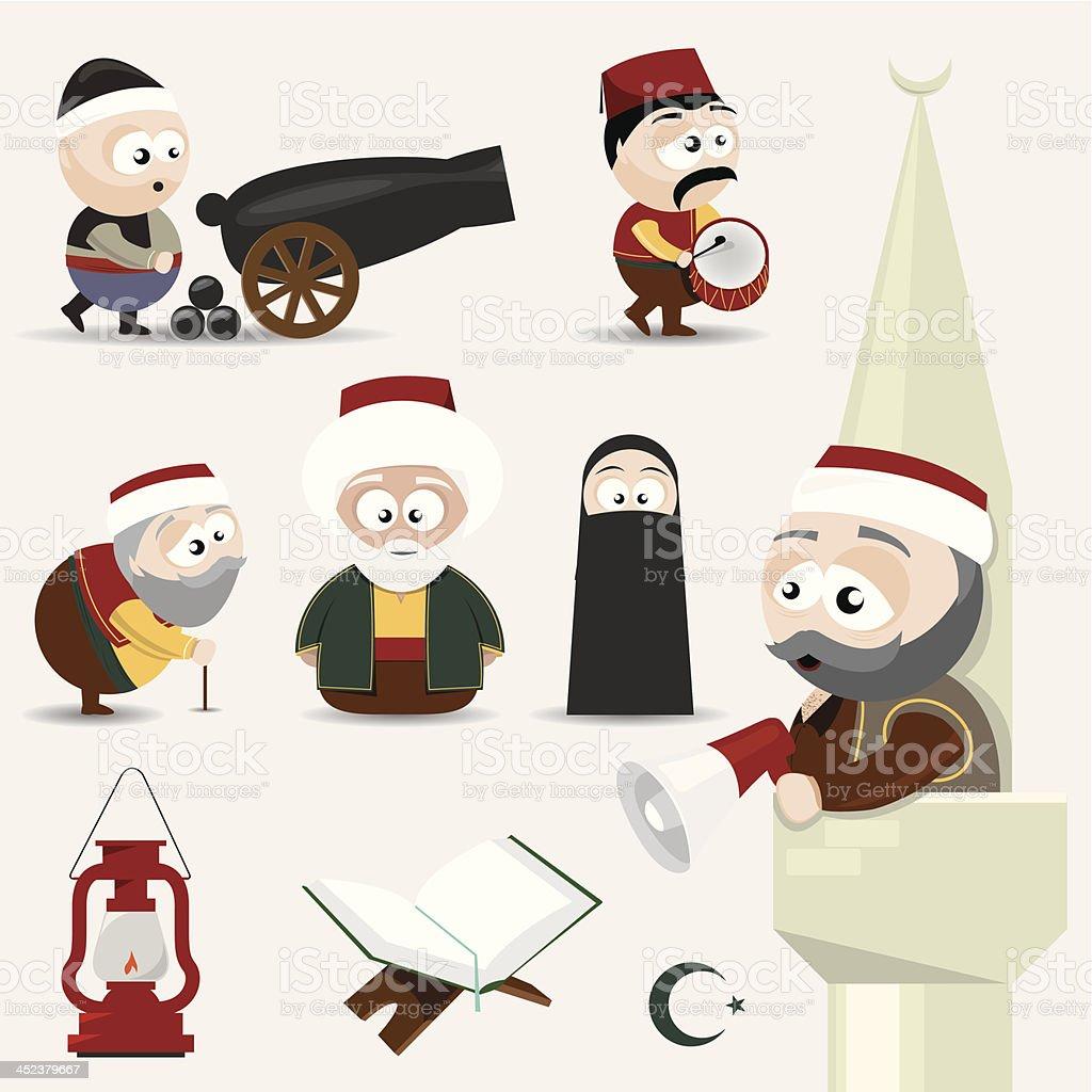 icon set ramadan royalty-free stock vector art