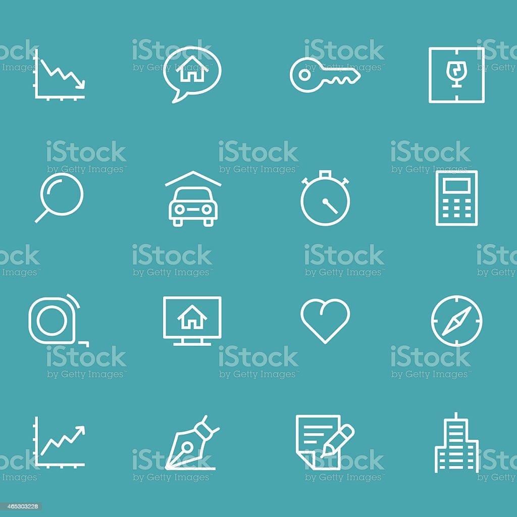 Icon Set, Real Estate vector art illustration