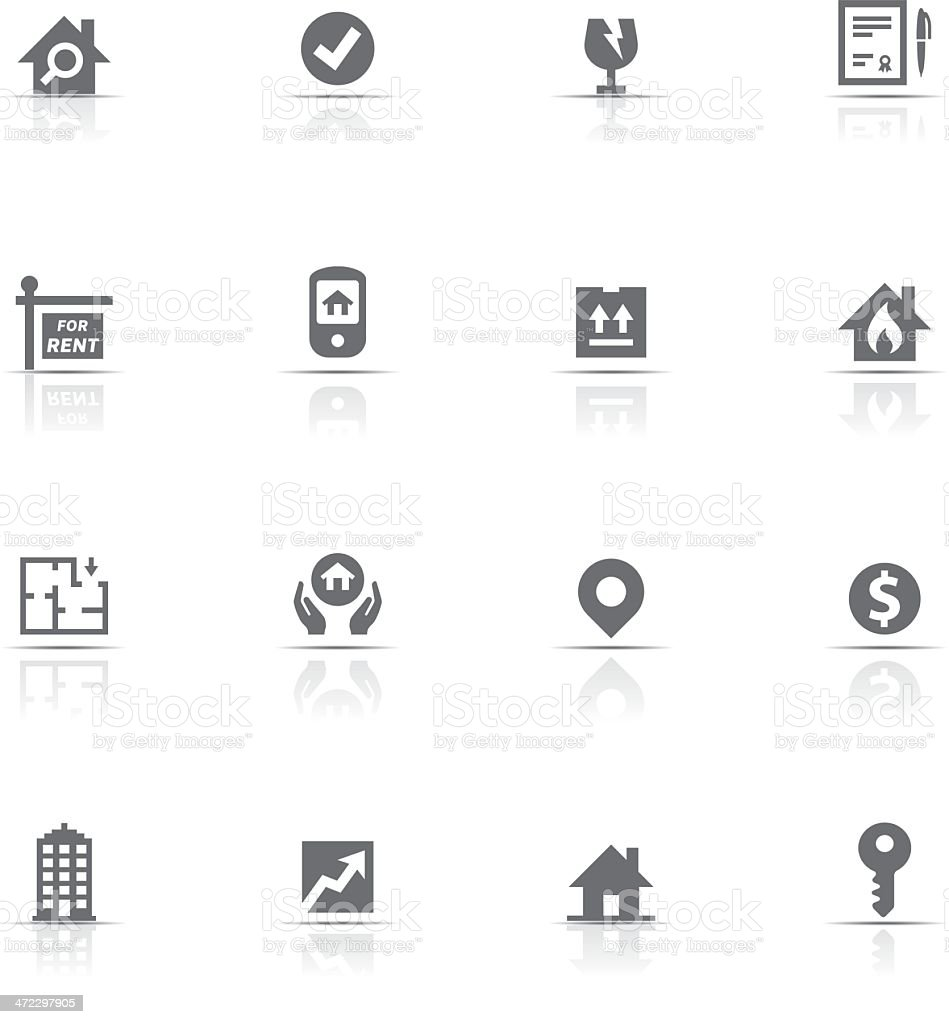 Icon Set, Real Estate royalty-free stock vector art