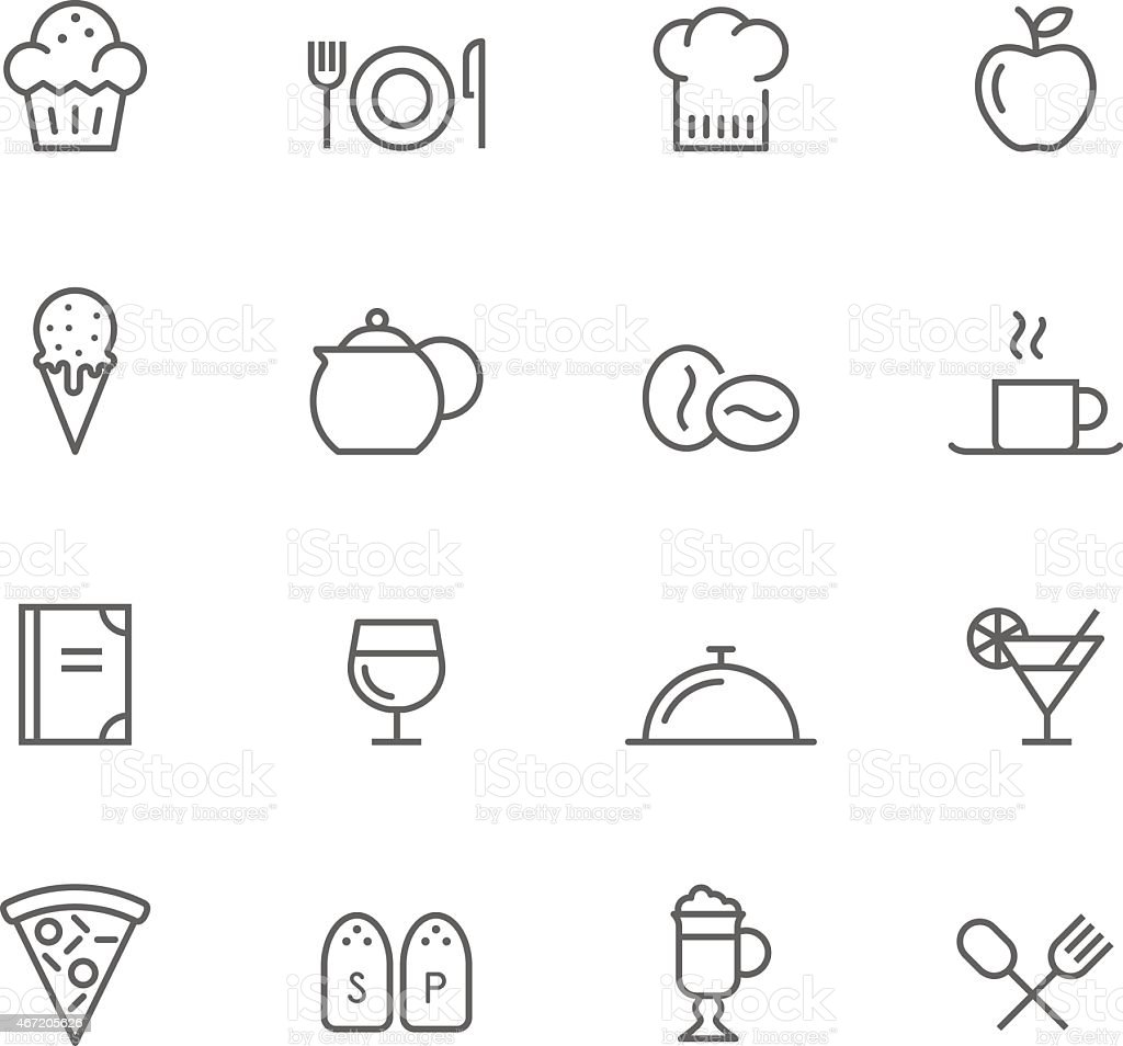 Icon Set, Restaurant vector art illustration