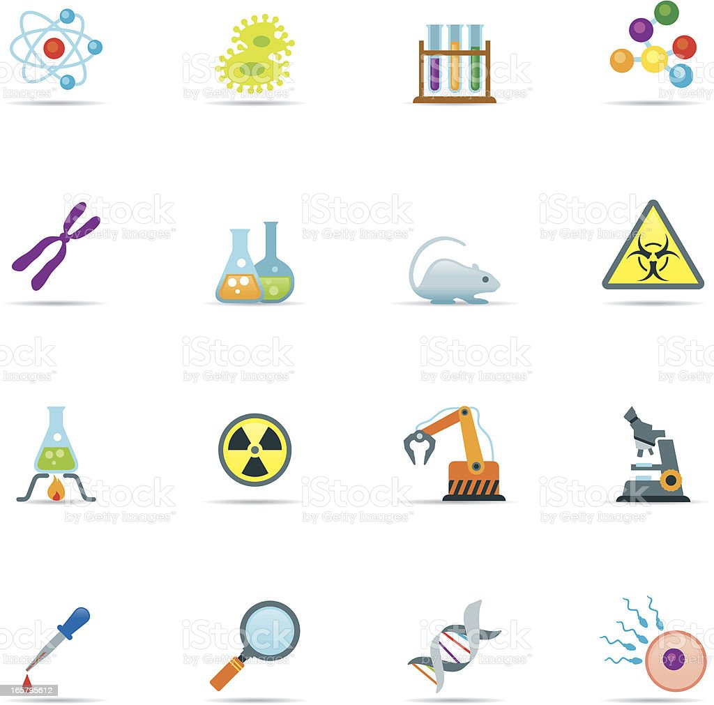 Icon Set, Science Color royalty-free stock vector art