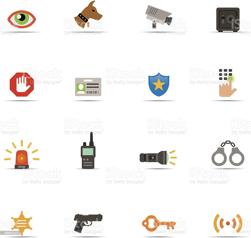 Icon Set, Security Color royalty-free stock vector art