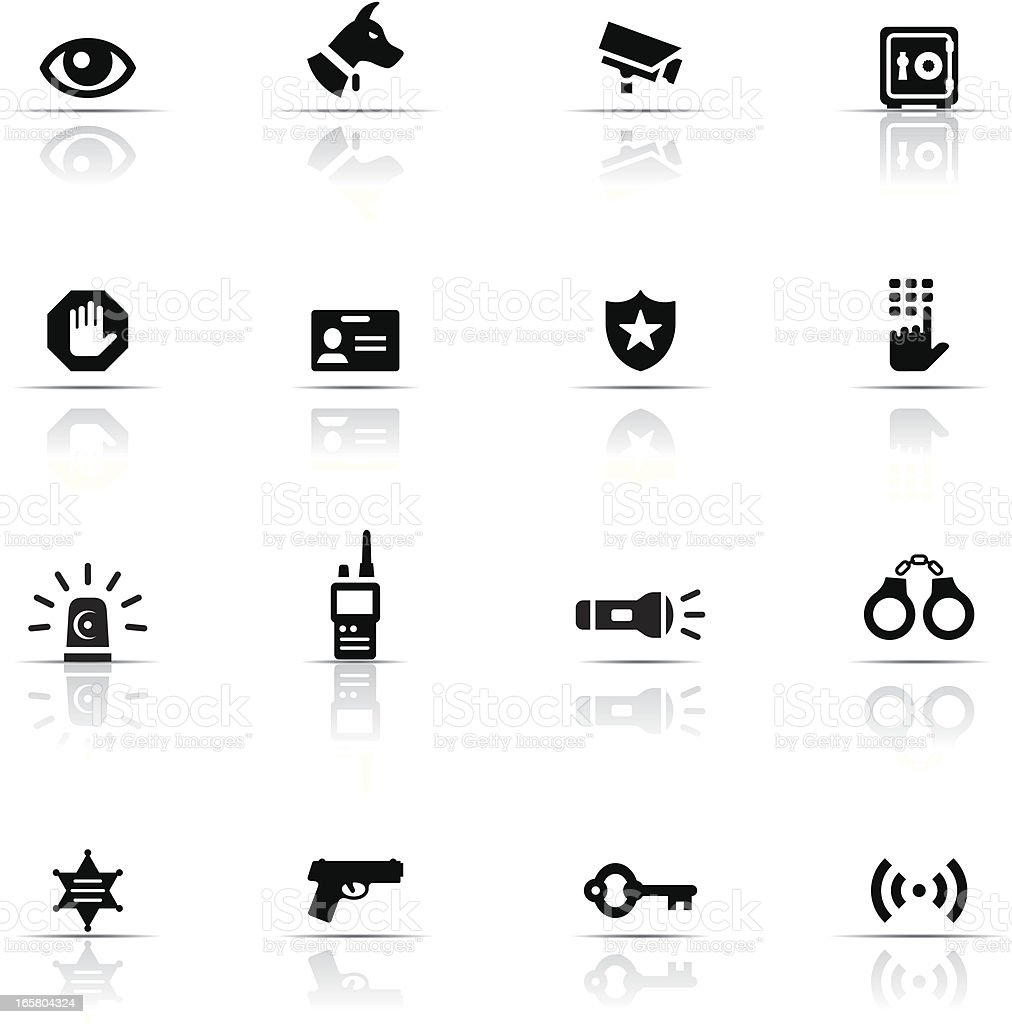 Icon Set, Security royalty-free stock vector art