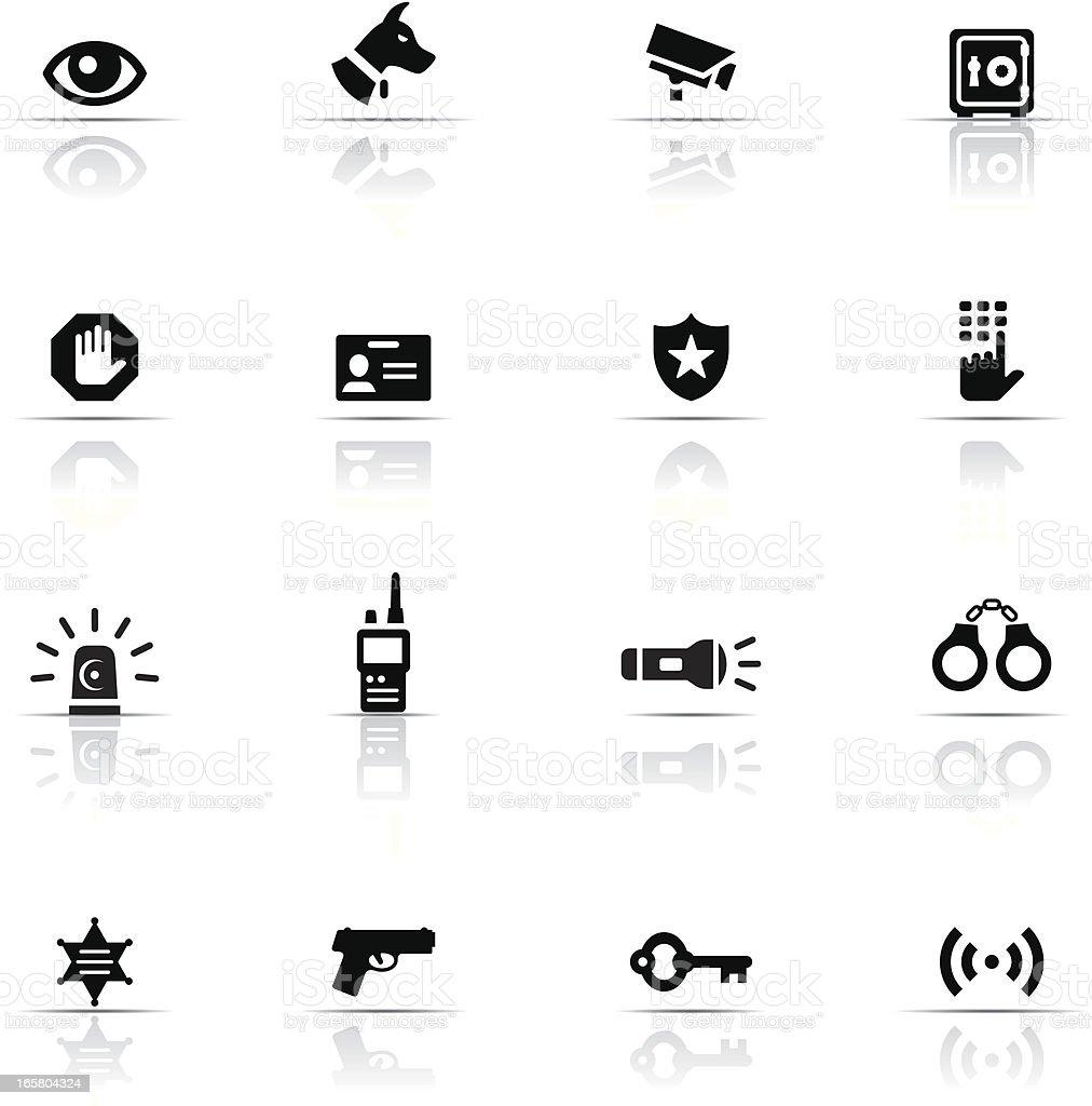 Icon Set, Security vector art illustration
