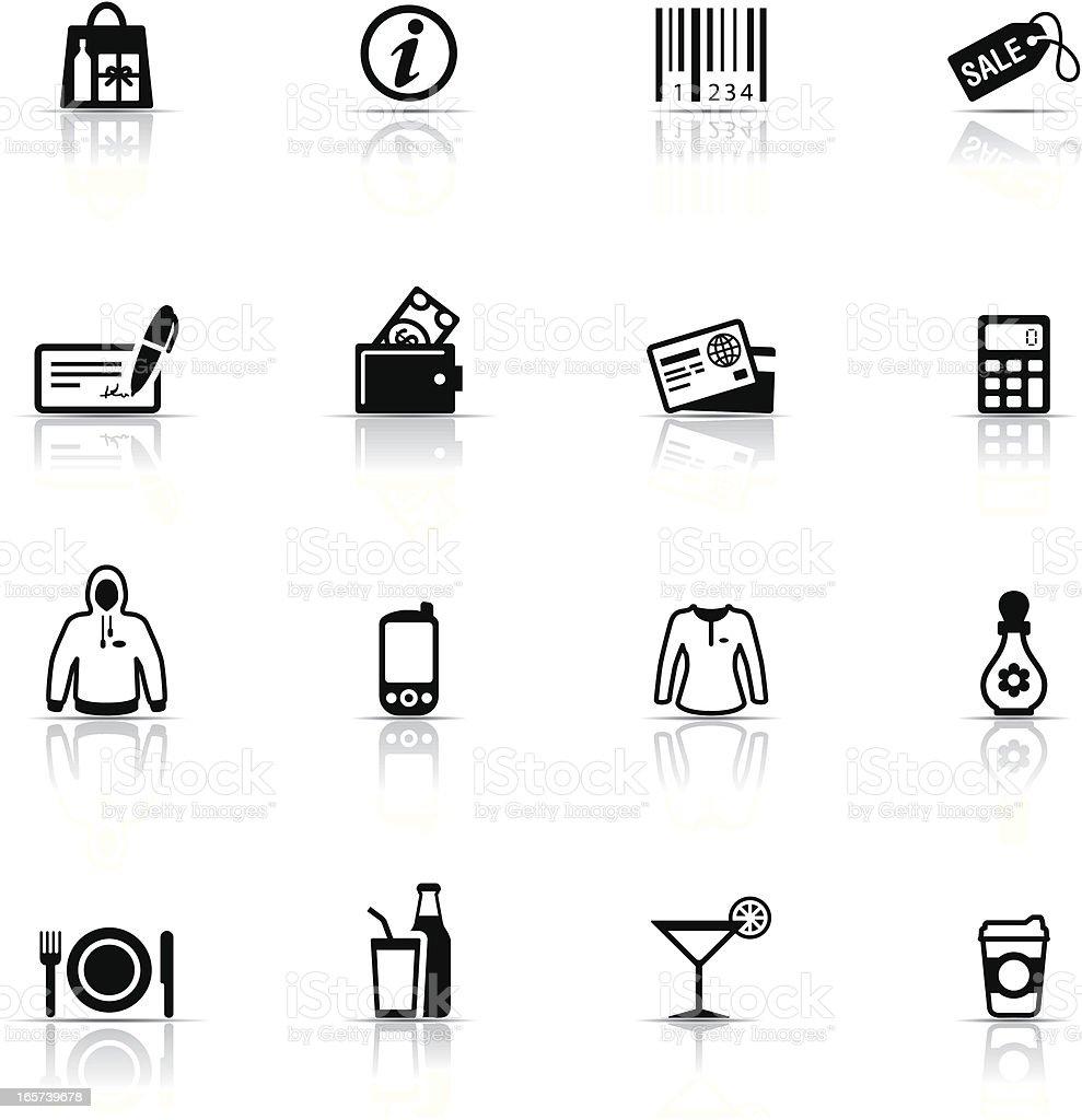 Icon Set, Shopping Mall royalty-free stock vector art