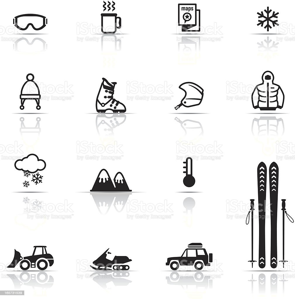 Icon Set, Skiing royalty-free stock vector art