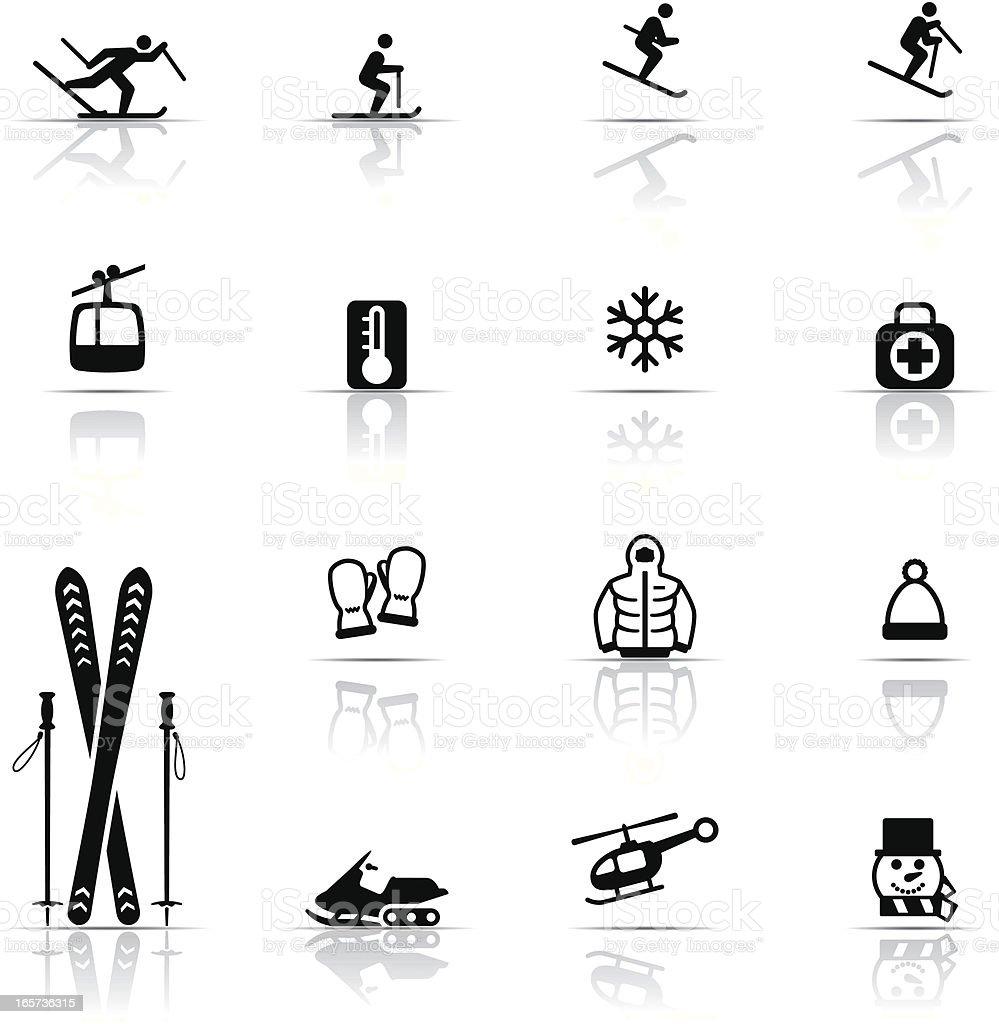 Icon Set, Skiing royalty-free stock vector art