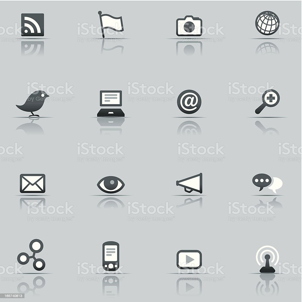 Icon Set, Social networking royalty-free stock vector art