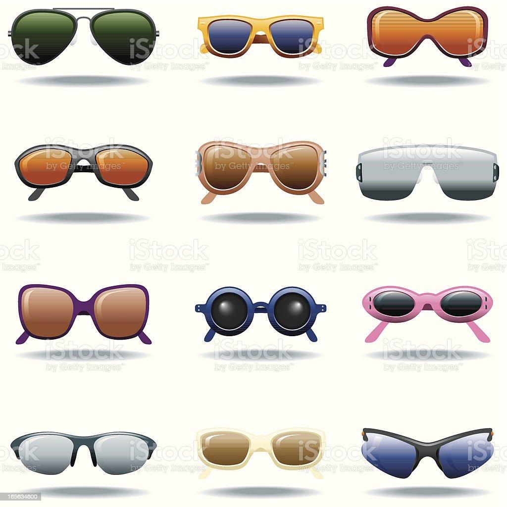 Icon Set, Sunglasses vector art illustration