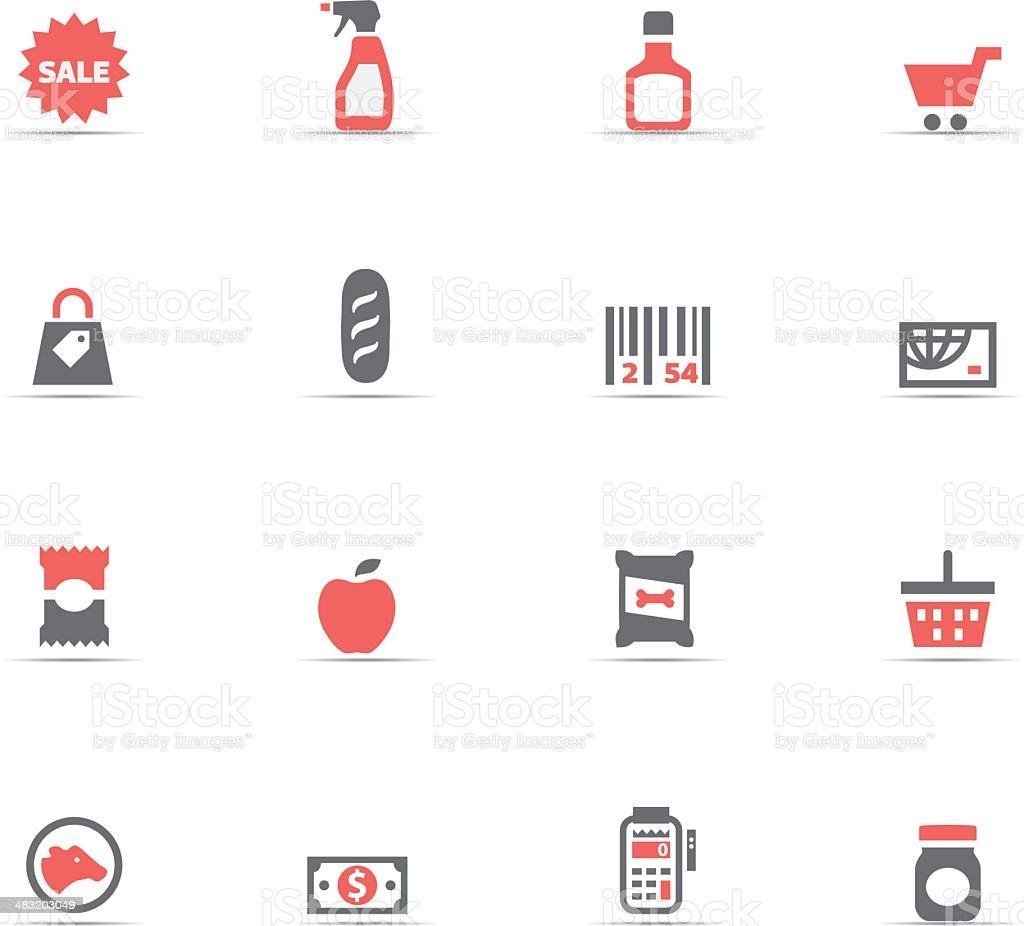 Icon Set, supermarket royalty-free stock vector art