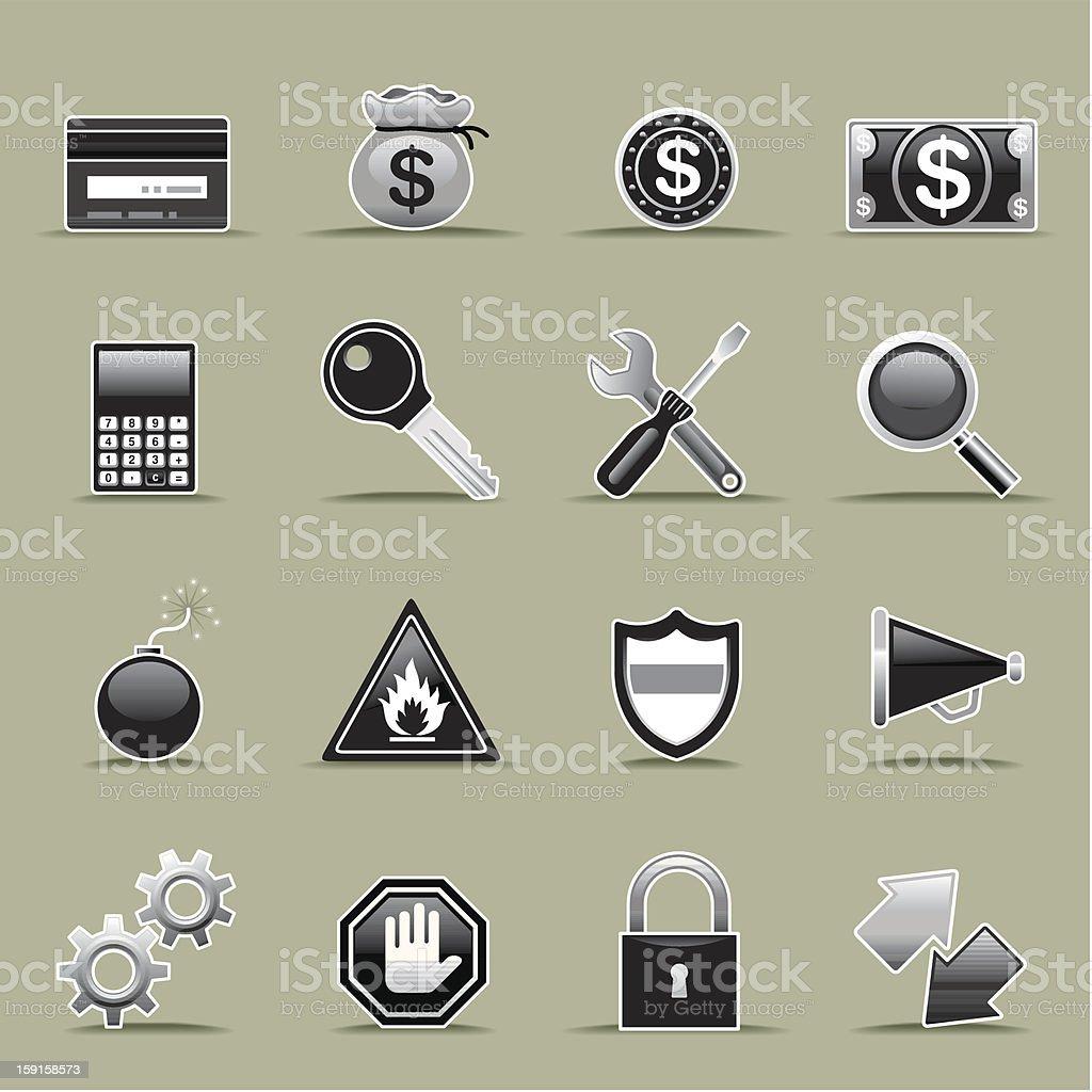 Icon Set, technology web stock photo