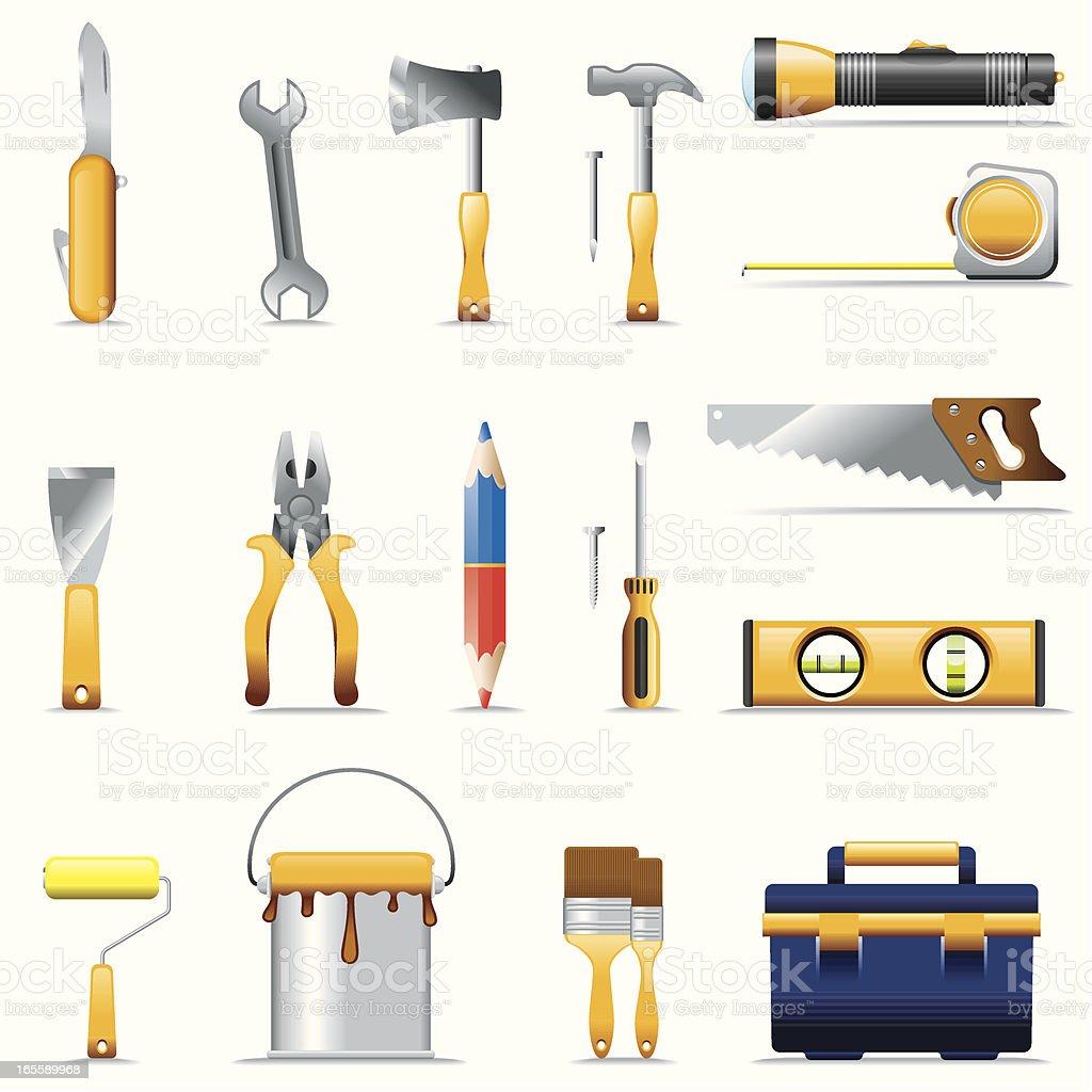 Icon Set, tools royalty-free stock vector art